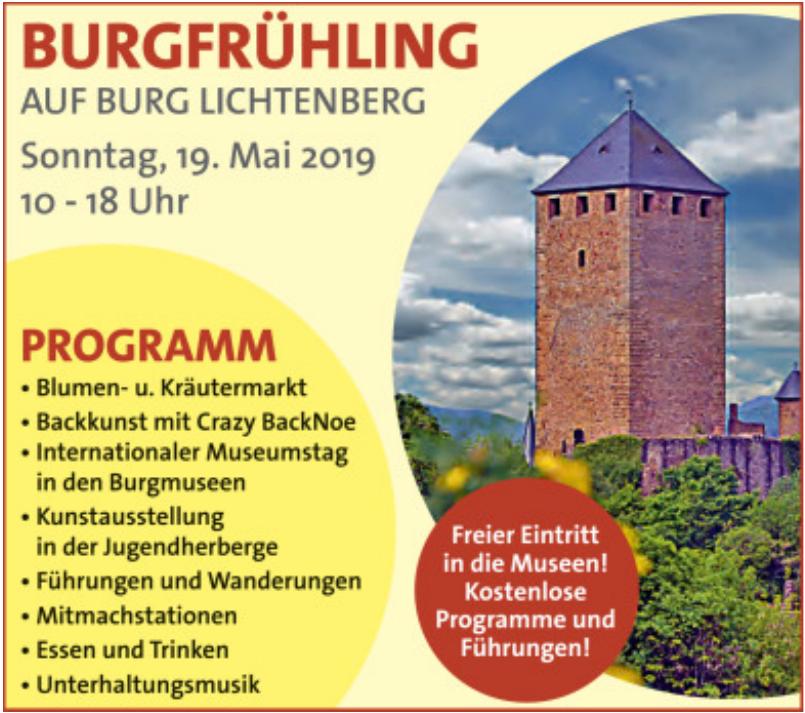 Burgfrühling - Burg Lichtenberg