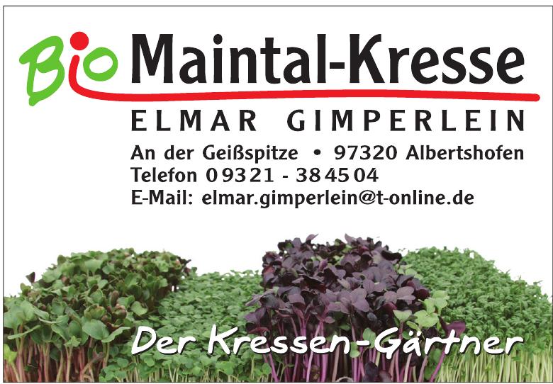 Bio Maintal-Kresse Elmar Gimperlein