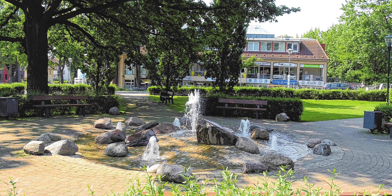Zur Stadtentwicklung im Ortskern gehören die Wasserspiele am Müllheimer Platz. Foto: Jana Jung