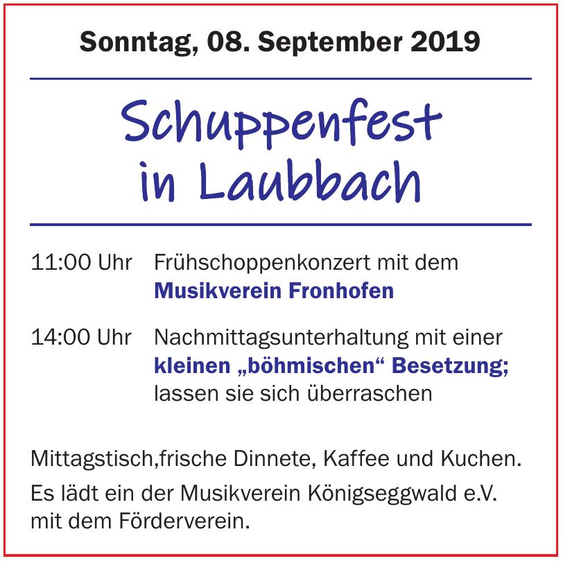 Schuppenfest in Laubbach