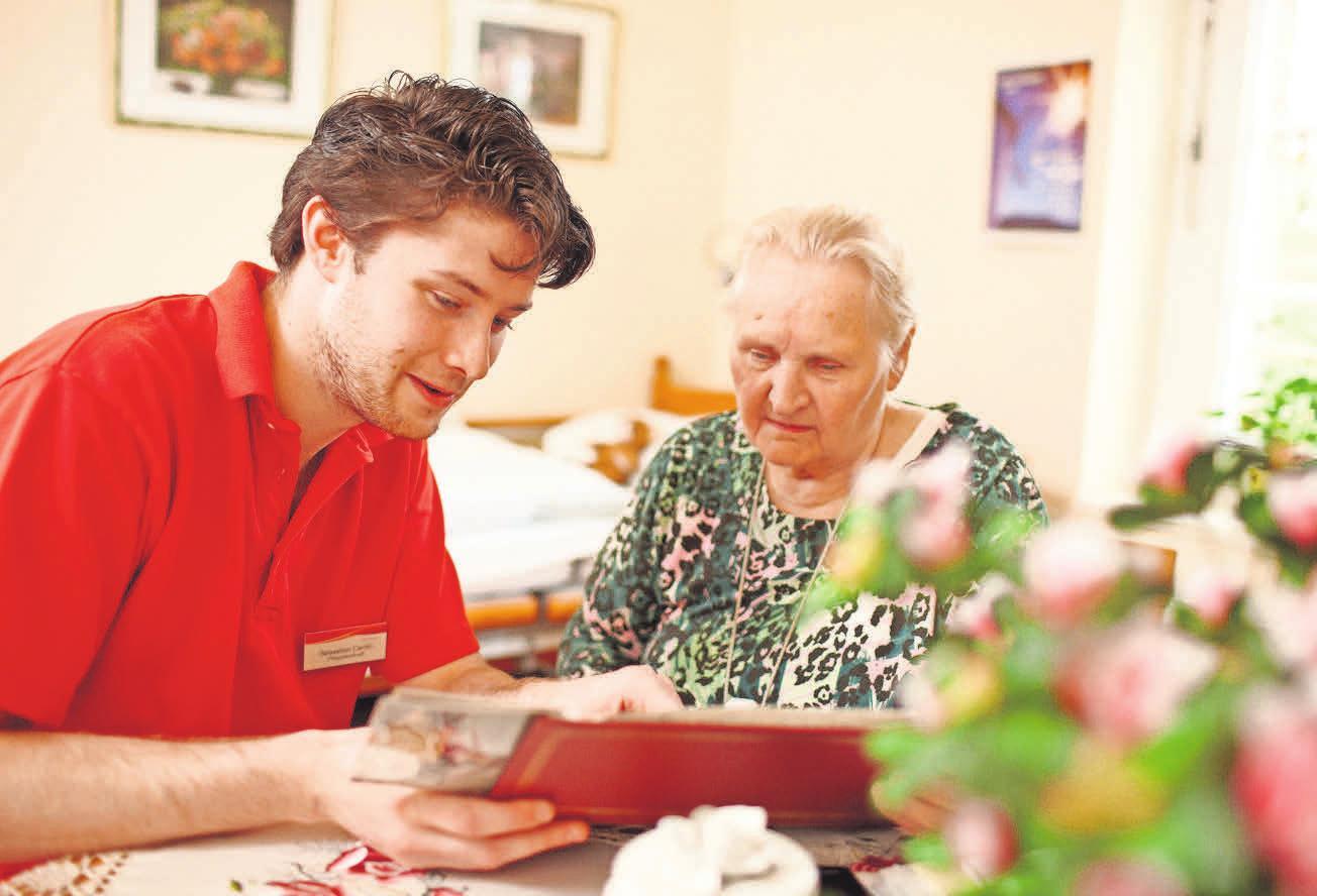 Eine liebevolle Betreuung gehört in den Pflegeeinrichtungen im Calenberger Land dazu. Foto: KKH