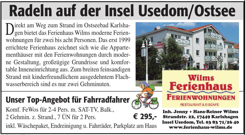 Wlms Ferienhaus Ferienwohnungen Restaurant & Cafe