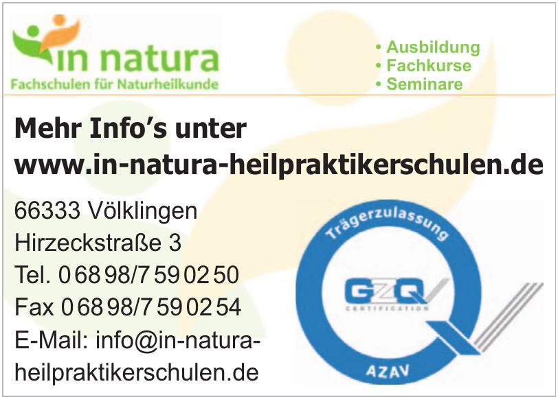 In Natura Fachschulen für Naturheilkunde