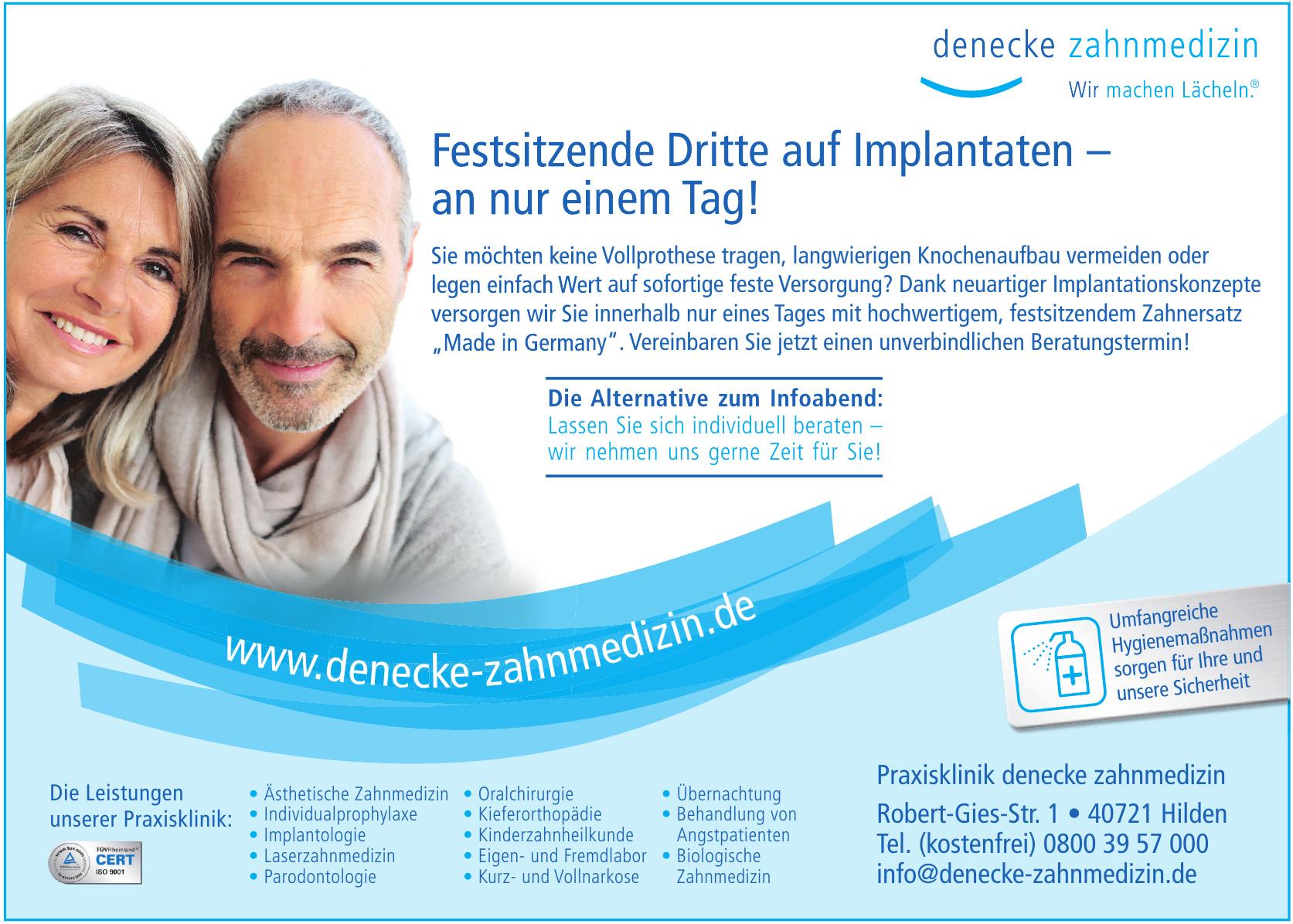 Praxisklinik denecke zahnmedizin