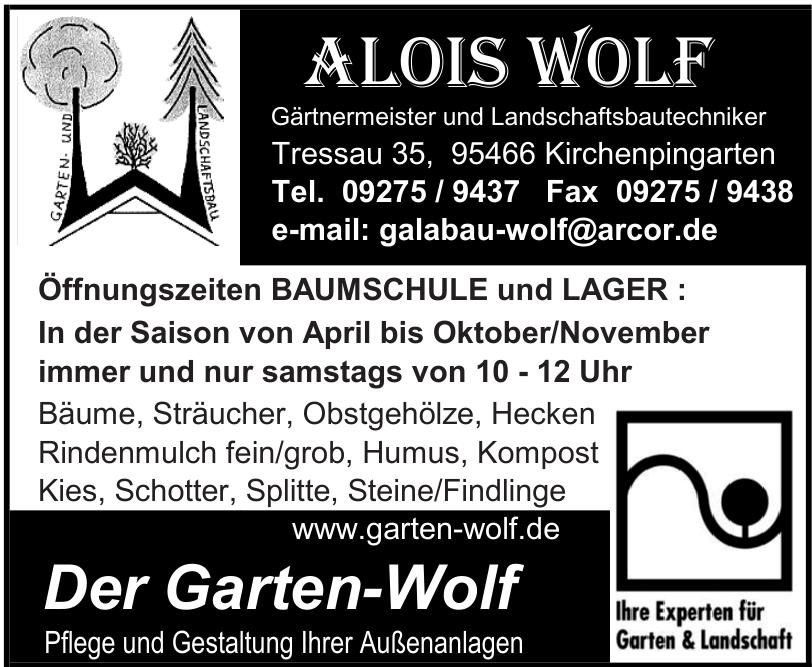 Alois Wolf Gärtnermeister und Landschaftsbautechniker