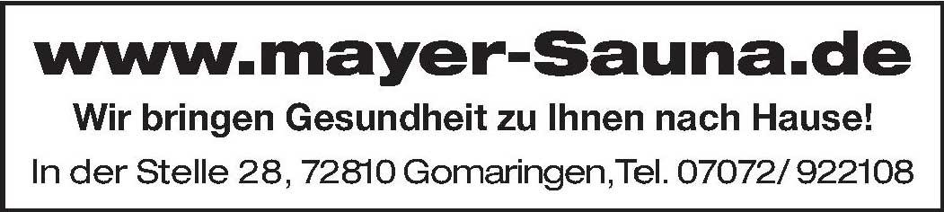 mayer-Sauna