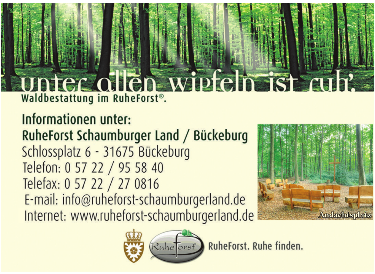 RuheForst Schaumburger Land / Bückeburg