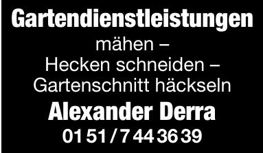 Gartendienstleistungen Alexander Derra