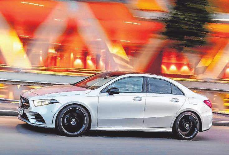 Die neue Mercedes-Benz A-Klasse Limousine. FOTO: DAIMLER AG