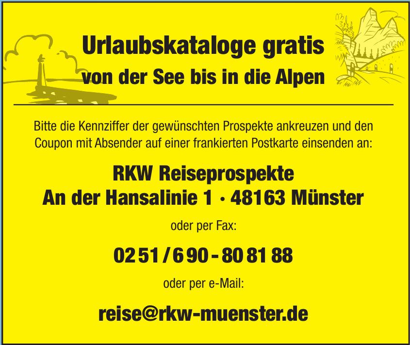 RKW Reiseprospekte