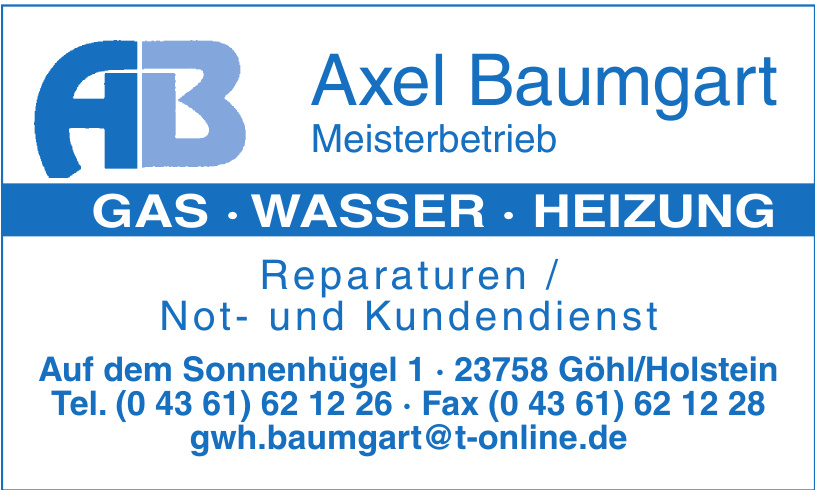 Axel Baumgart Meisterbetrieb