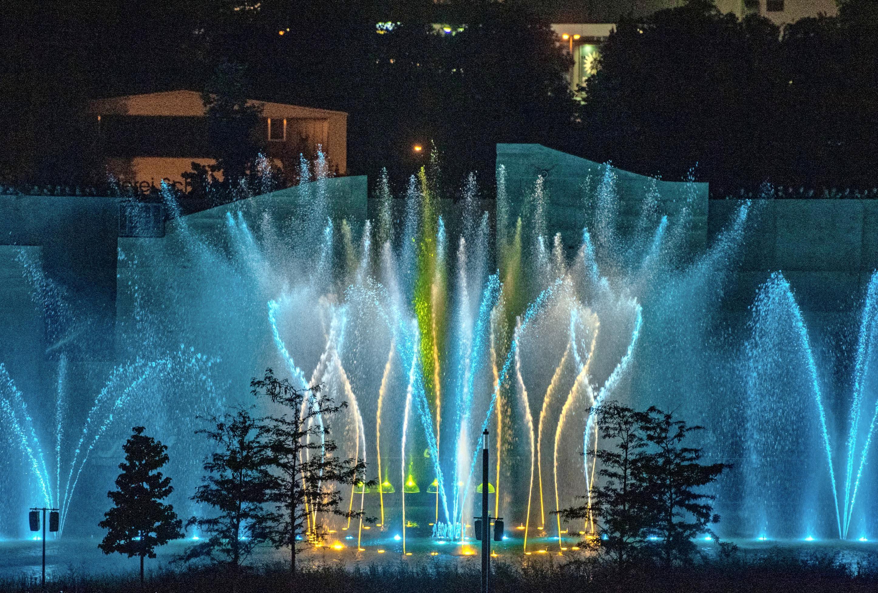 Zum Finale am 6. Oktober, 19.45 Uhr, gibt es noch einmal<div>eine der spektakulären Wassershows zu sehen.</div>
