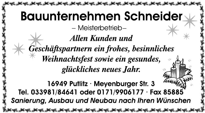 Bauunternehmen Schneider Meisterbetrieb
