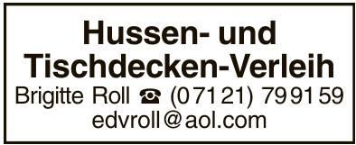 Hussen- und Tischdecken-Verleih Brigitte Roll