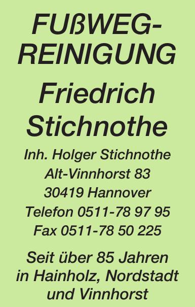 Fußwegreinigung Friedrich Stichnothe