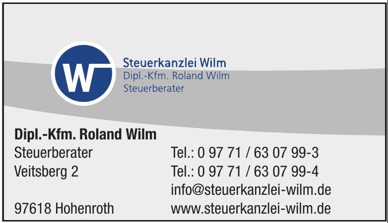 Dipl.-Kfm. Roland Wilm Steuerberater
