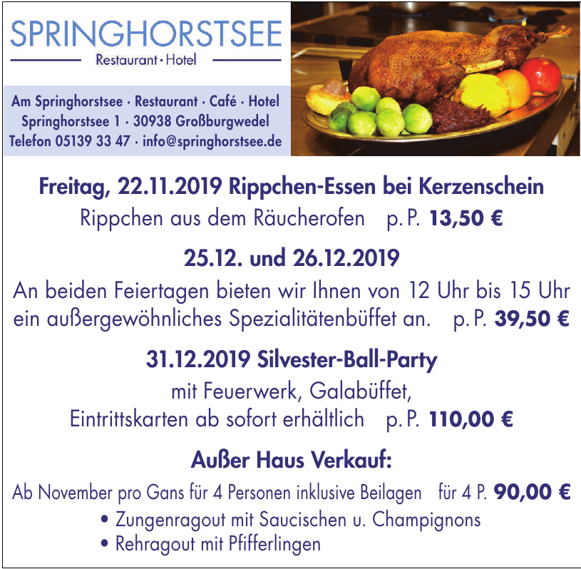 Springhorstsee Hotel - Restaurant