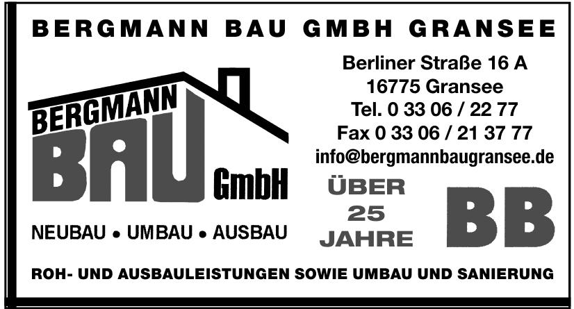 Bergmann Bau GmbH Gransee