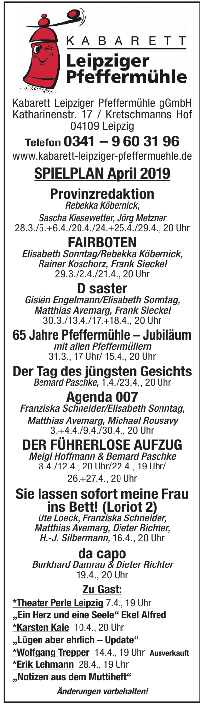 Kabarett Leipziger Pfeffermühle gGmbH