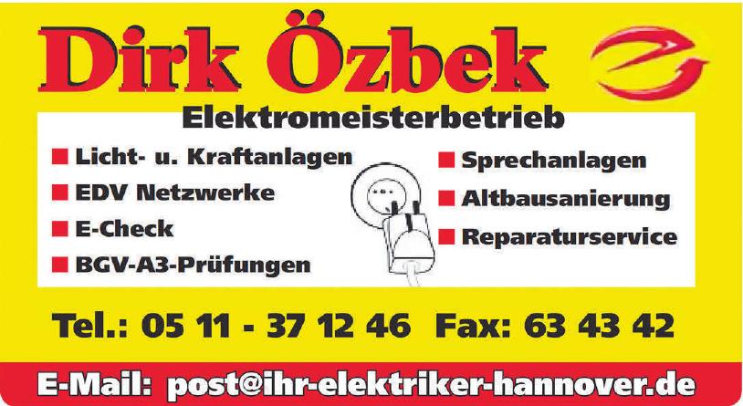 Dirk Özbek Elektromeisterbetrieb