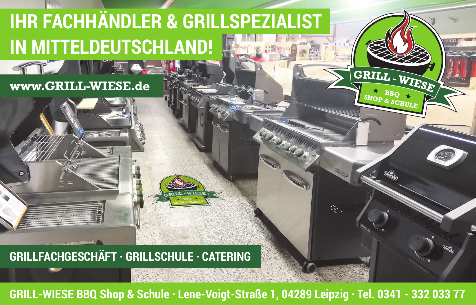 Grill-Wiese BBQ Shop & Schule
