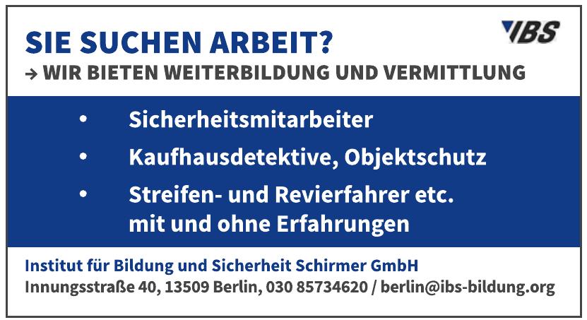 IBS Institut für Bildung und Sicherheit Schirmer GmbH