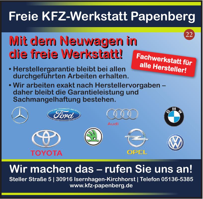 Freie KFZ-Werkstatt Papenberg