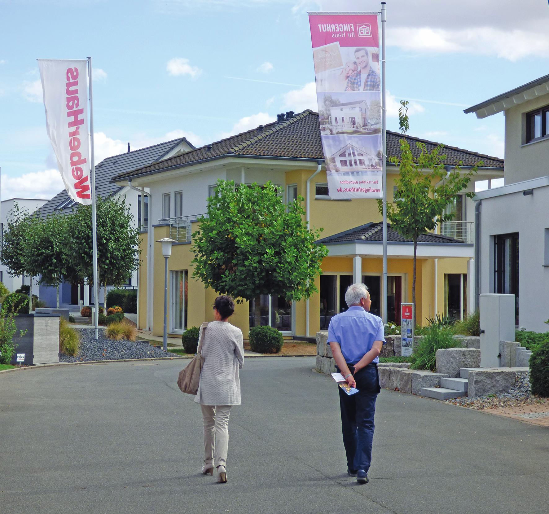 Die Musterhäuser im Fertighaus Center Mannheim zeigen eine große Vielfalt an Größen und Baustilen. FOTO: FREI