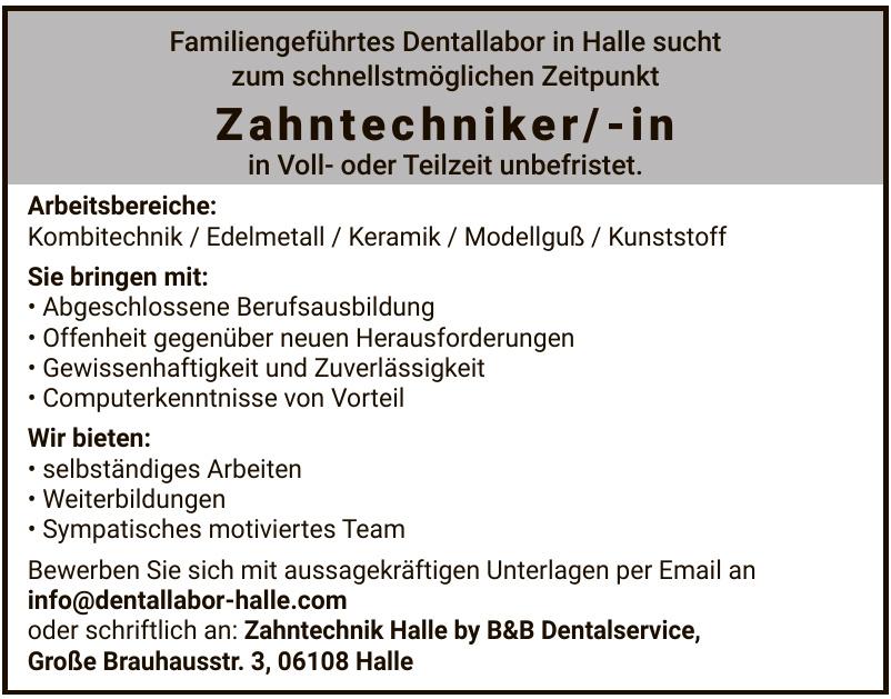 Zahntechnik Halle by B&B Dentalservice
