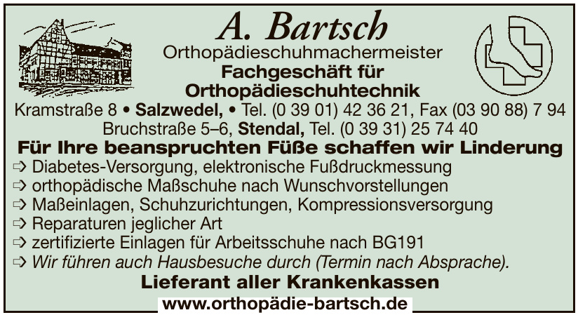 A. Bartsch Orthopädieschuhmachermeister