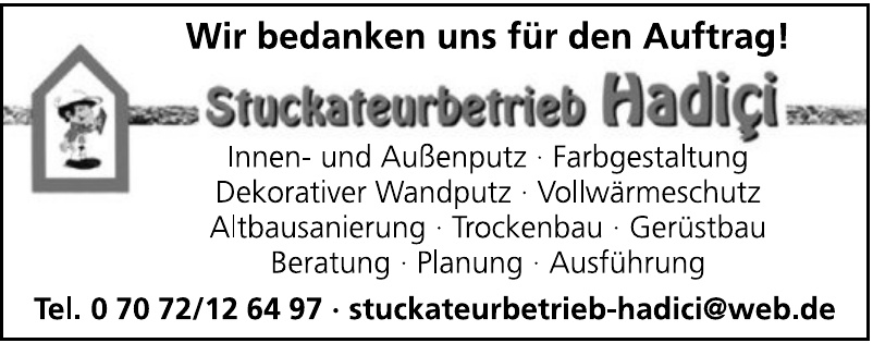 Stuckateurbetrieb Hadici