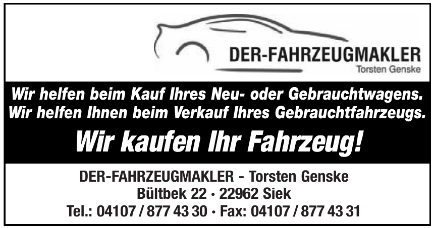 Der Fahrzeugmakler-Torsten Genske