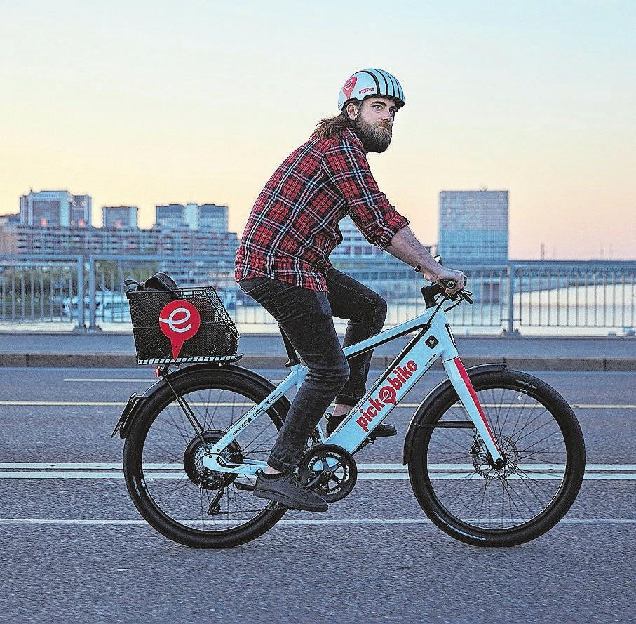 Auch die weissen Stromer-Flitzer von Pick-e-Bike prägen immer mehr das Stadtbild. Bild: zvg