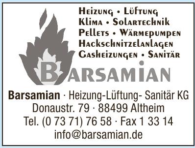 Barsamian Heizung-Sanitär-Klima KG