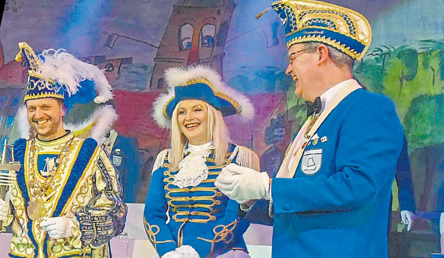 Prinz und Pünte Christian Muellmann und Manuela Bussmann bei der Proklamation im Januar.
