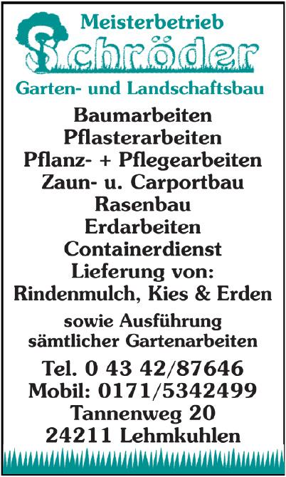 Meisterbetrieb Schröder Garten- und Landschaftsbau
