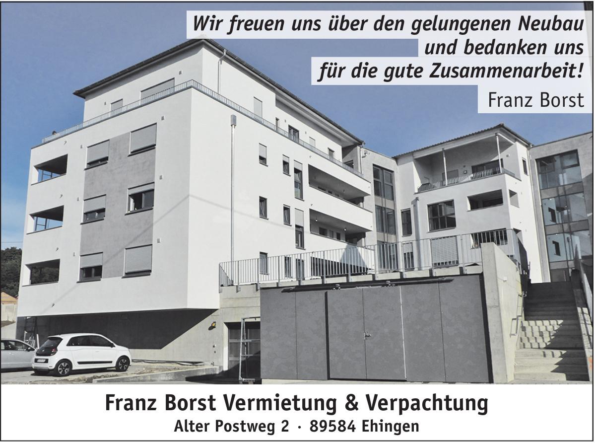 Franz Borst Vermietung & Verpachtung