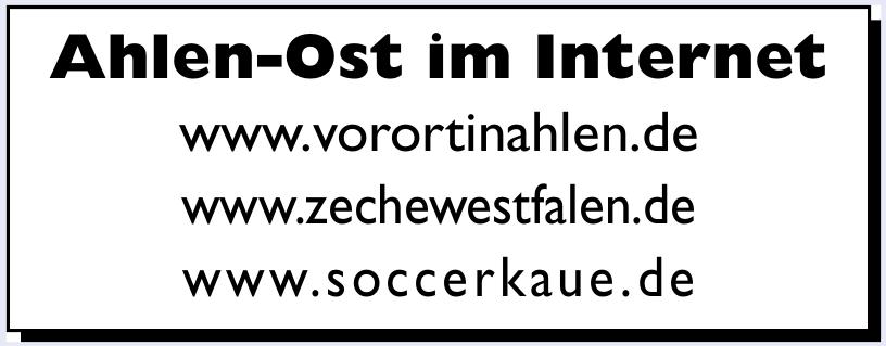 Ahlen-Ost im Internet