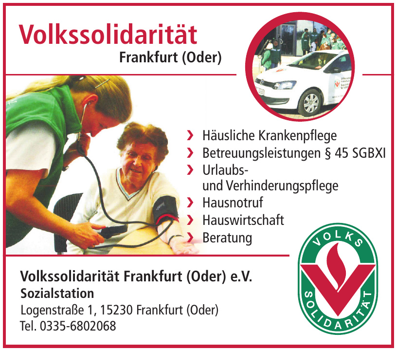 Sozialstation der Volkssolidarität Frankfurt (Oder) e.V.