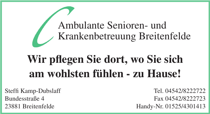 C Ambulante Senioren- und Krankenbetreuung Breitenfelde