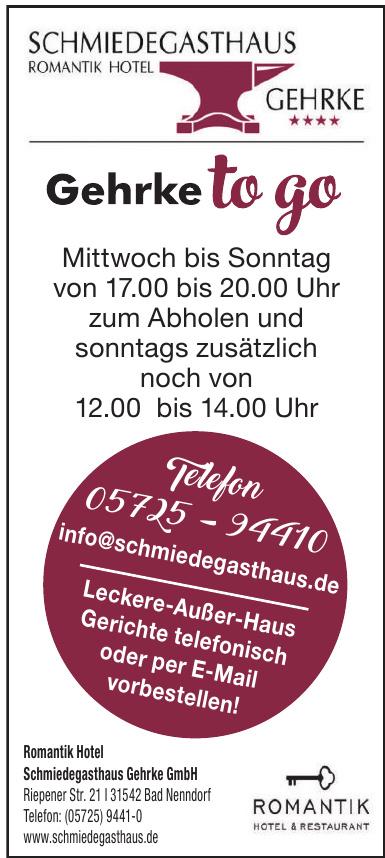 Romantik Hotel Schmiedegasthaus Gehrke GmbH
