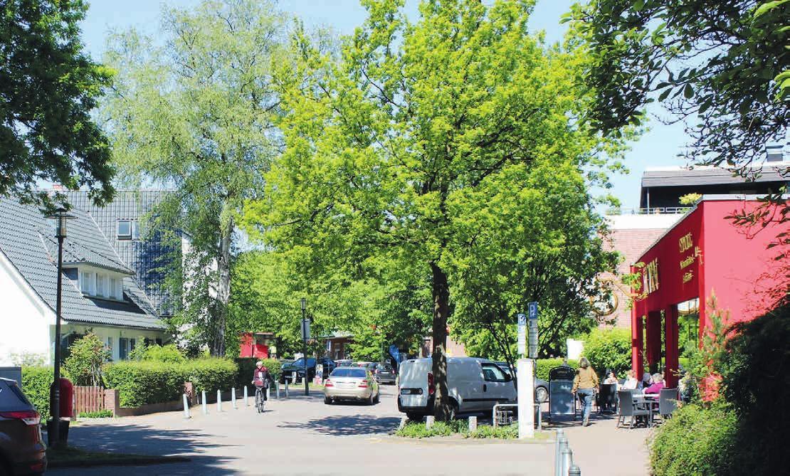Beliebt bei den Lokstedtern und den Menschen, die hier arbeiten: Die Grelckstraße Fotos: kh