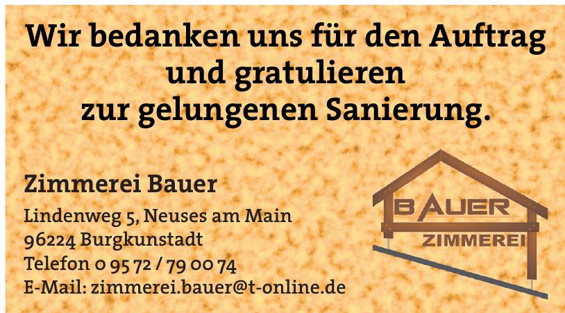 Zimmerei Bauer