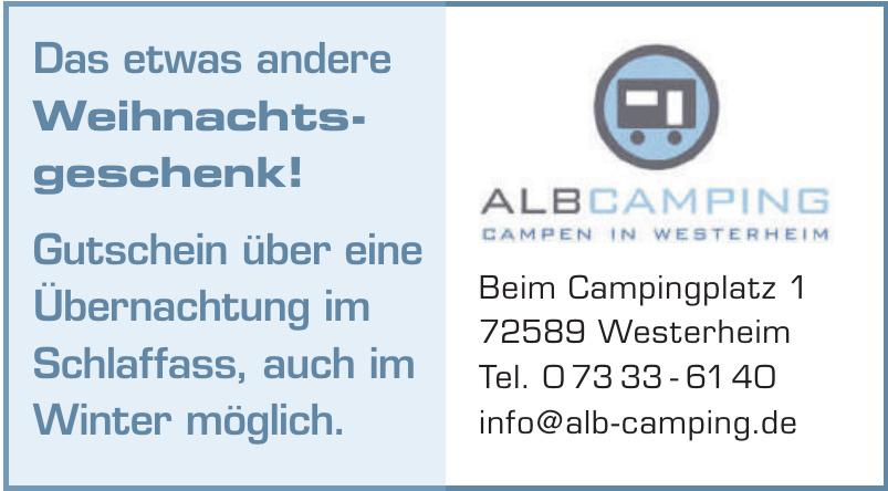 AlbCamping Campen in Westerheim