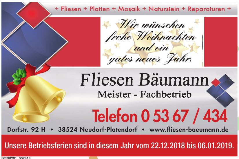 Fliesen Bäumann – Meister-Fachbetrieb