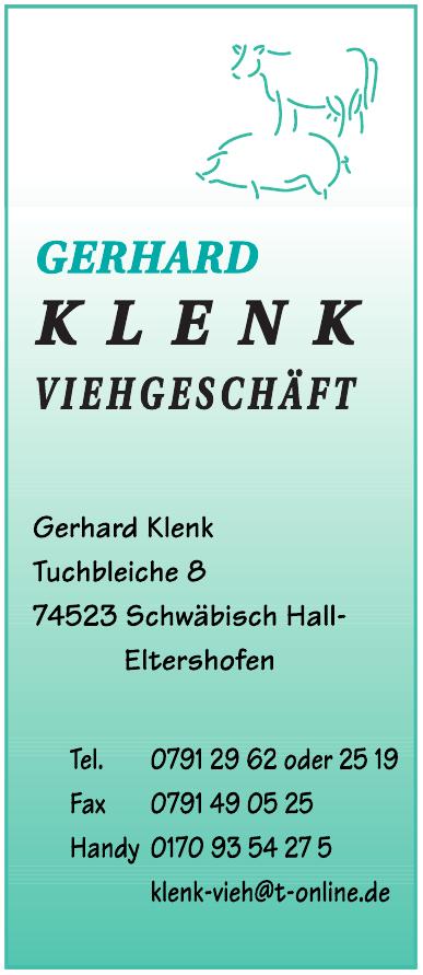 Gerhard Klenk Viehgeschäft