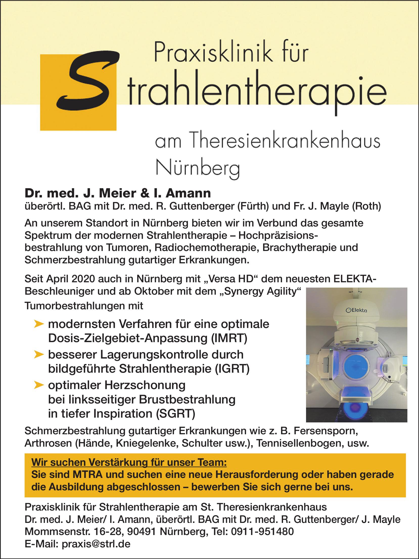 Praxisklinik für Strahlentherapie am St. Theresienkrankenhaus