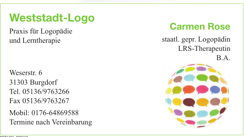 Weststadt-Logo Praxis für Logopädie und Lerntherapie
