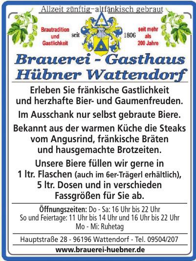 Brauerei - Gasthaus Hübner Wattendorf