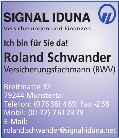 Roland Schwander Versicherungsfachmann (BWV)